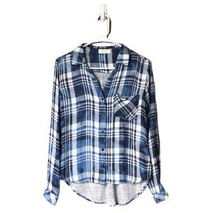 Bella Dahl Plaid Top-c8